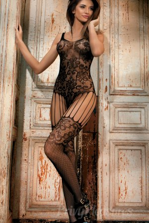 Black Floral Lace Cut Out Bodystocking