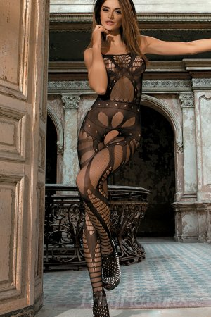 Black Lace Cut Out Bodystocking