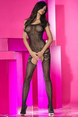 Leopard Halter Neck Stocking