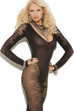 Jacquard Bodystocking