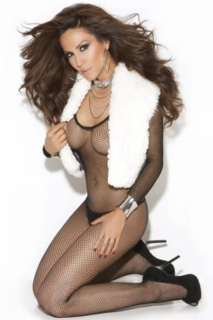 Fishnet Bodystocking with Long sleeve