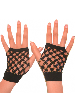 Sexy fingerless net gloves