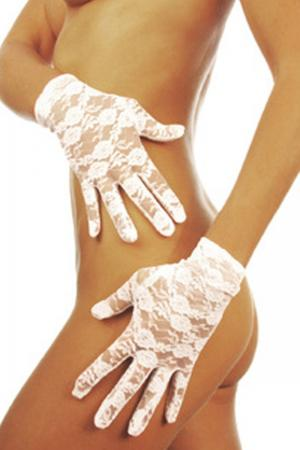 Sexy stretch wrist length lace gloves
