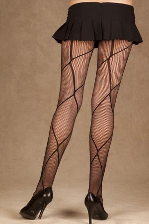 Criss Cross Fishnet Pantyhose