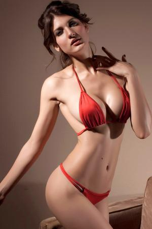 Red Fling Thong Bikini