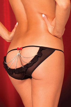 Diamond Stone Chain Embellished Sexy Thong