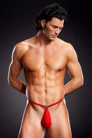 Performance Microfiber Pouch G-String Red