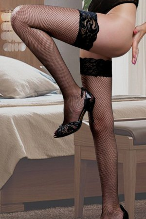Black Stay Up Stockings with Floral Lace