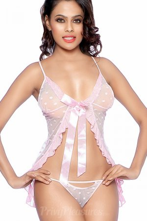 Romantic Valentine Pink Babydoll Nightie