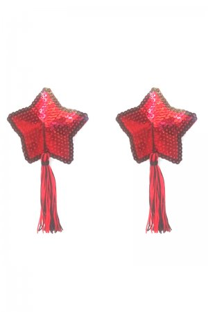Red Sequin Star Pasties