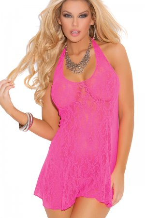 Neon Pink Night Dress for Honeymoon