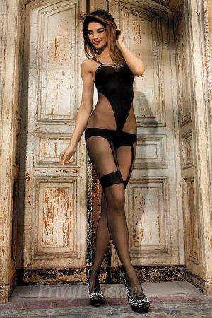 Sexy Black Opaque Bodystocking