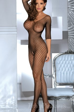 Open Crotch Bodystocking with Criss Cross