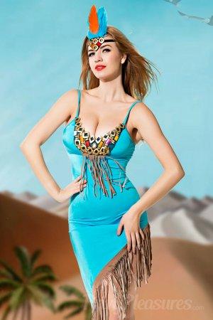 Luxurious Fringe Evening Dress with Headdress