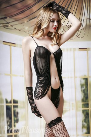 Black Babydoll Nightie with Fringe - Full Set