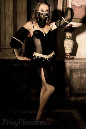 Hot Sexy 4pcs Belly Dancer Costume - Black