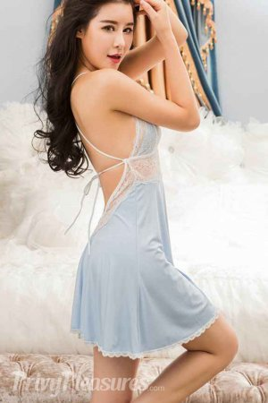 1st Night Dress for Bride - Sky Blue