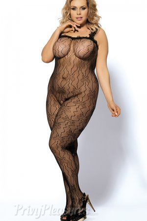 Sexy Lace Black Bodystocking Plus Size