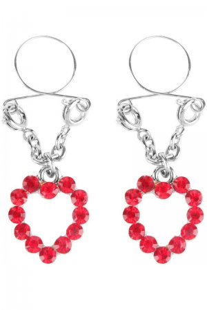 Ruby Hearts Nipple Jewellery