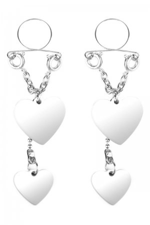 Nipple Jewellery Silver Hearts