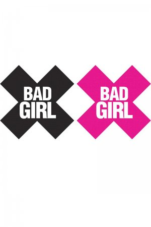 Bad Girl Pasties - 2 Pairs, Black and Pink