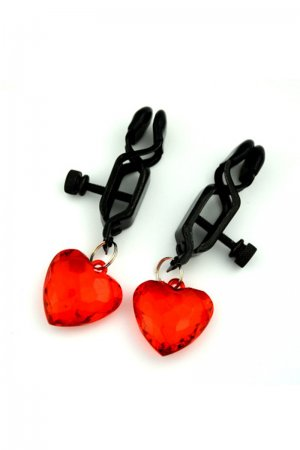 BDSM Fetish Nipple Clip with Red Heart