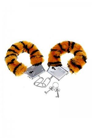 Tiger Print Handcuffs