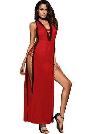 Red Sexy Nighty Gown for Honeymoon