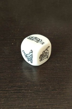 Sex Positions Dice - White