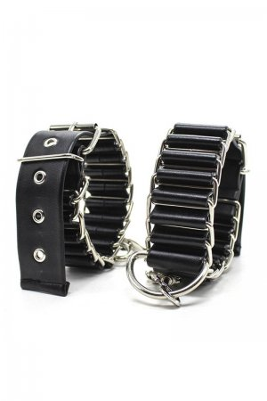 Black Ring Chain Anklecuffs