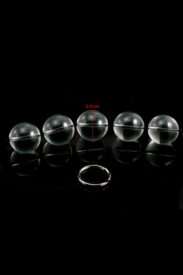 Crystal Glass Bead 5 Ball Sex Toy