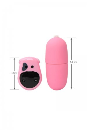 Waterproof Remote Control Mute Vibrating Egg - Pink