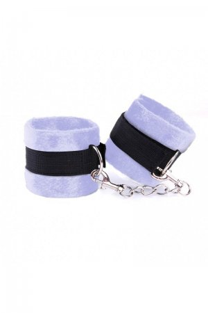 Soft Sensual Handcuffs - Lavender and Black