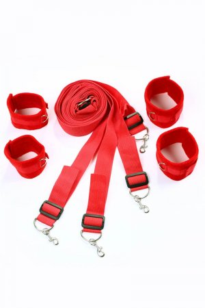 HQ Under Bed Bondage Restraints Kit - Red