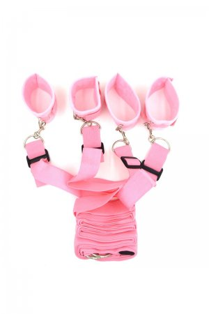 HQ Under Bed Bondage Restraints Kit - Pink