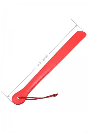 Red Leather Paddle Toy