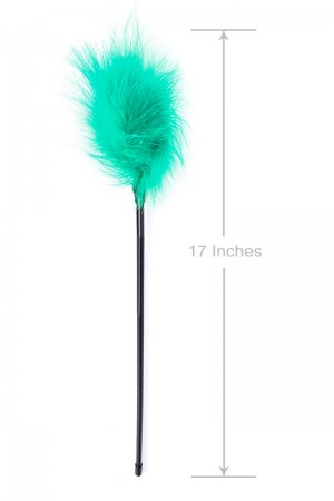 Long Foreplay Tickler - Turquoise