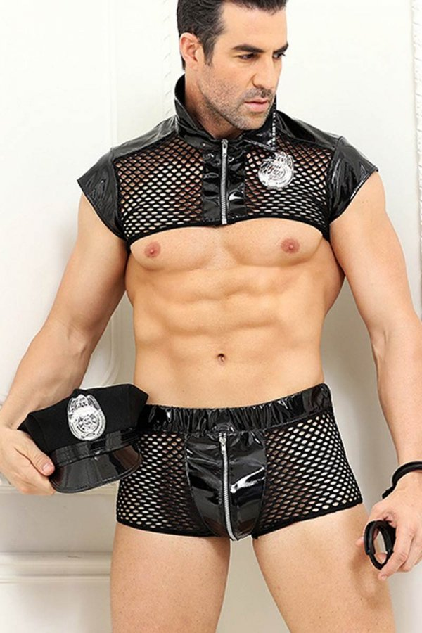 Sexy Police Costume Men - Full Set
