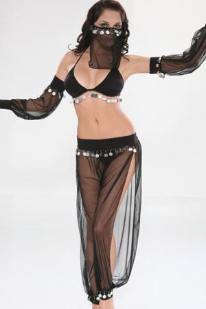 Arabian Dancer Sexy Costume - Black