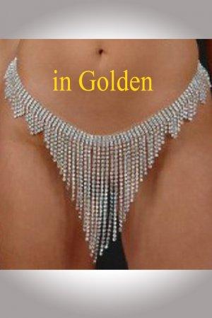 Golden Rhinestone Skirt - Front Fall