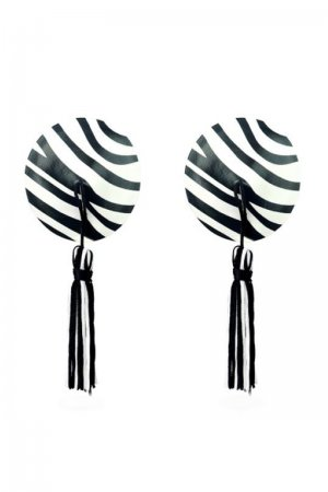 Zebra Print Nipple Covers with Tassel