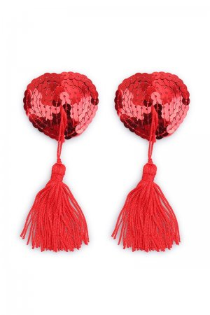 Red Sequin Nipple Cover with Tassel