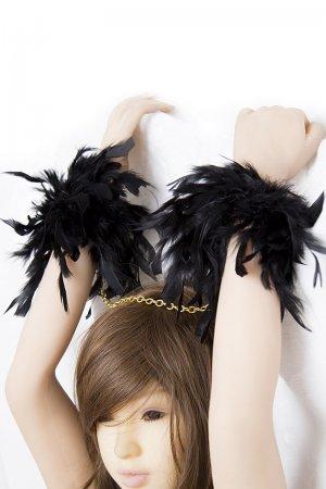 Black Feather Handcuffs