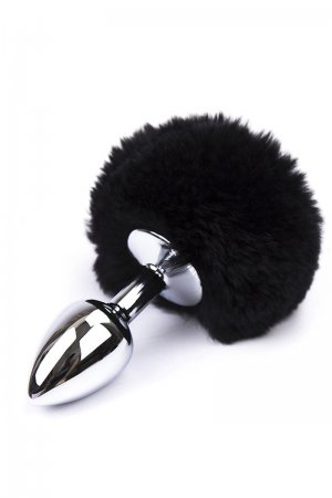 Black Feather Metal Butt Plug