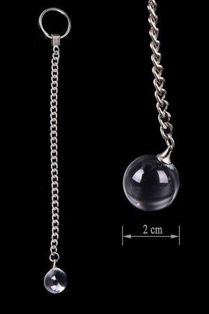 Crystal Glass Anal/Vaginal Love Balls - Small