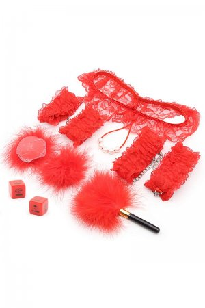 6Pcs Lace BDSM Set - VDay Special