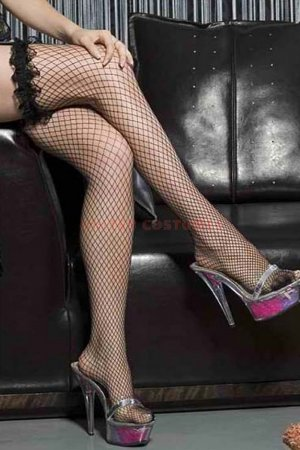 Black Fishnet Stocking with Lace Top