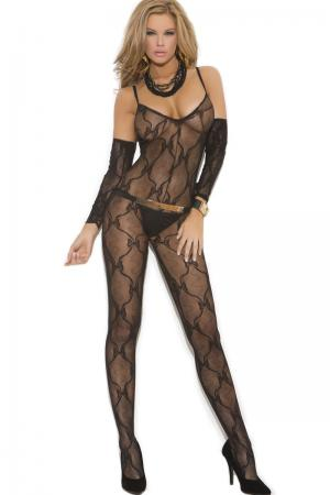 Open Crotch Bow Tie Bodystocking