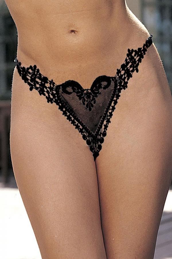 Heart V String Underwear