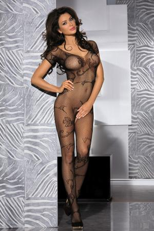 Floral Crotchless Full Body Stocking